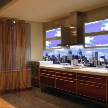 Mẫu kính ốp bếp in phong cảnh thành phố New York , Mỹ GH-004