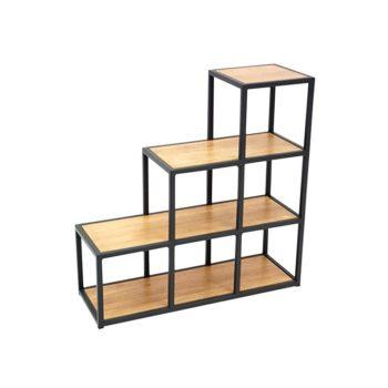 Mẫu kệ sách khung chân sắt mặt gỗ 3 tầng GHZ-315 kiểu độc đáo