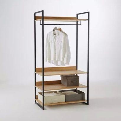 Keo treo quần áo khung sắt mặt gỗ GHZ-490