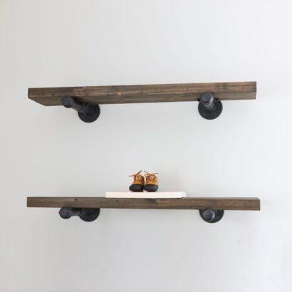 Kệ trang trí treo tường ống nước mặt gỗ thông GHZ-649 đẹp không tưởng ạ