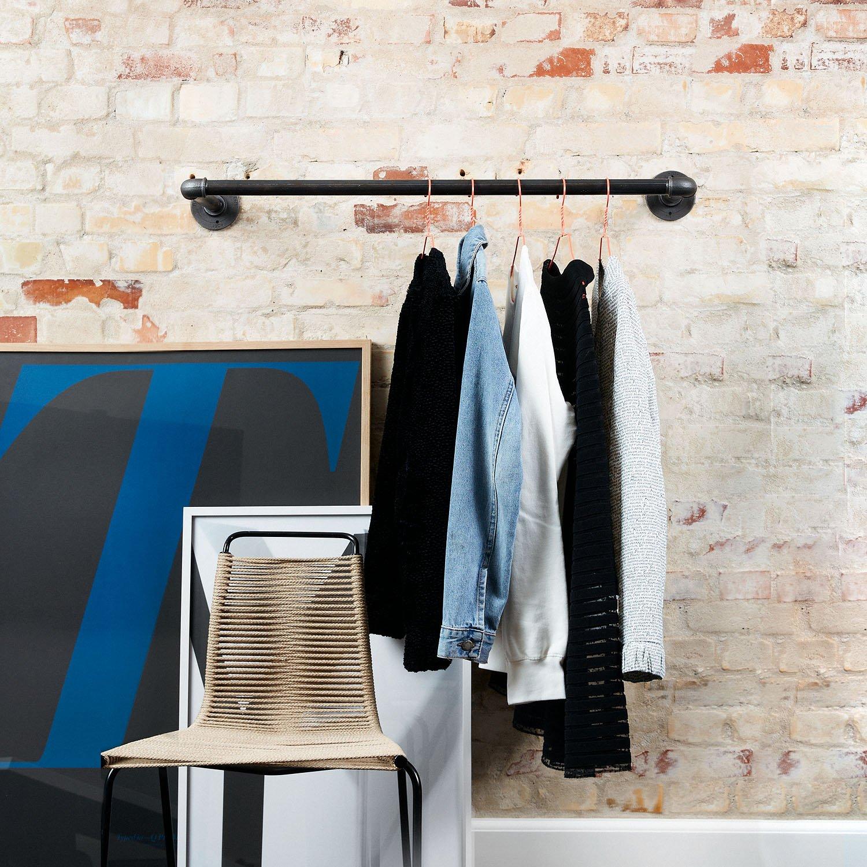 Sào móc quần áo ống nước gắn tường 70cm GHZ-638