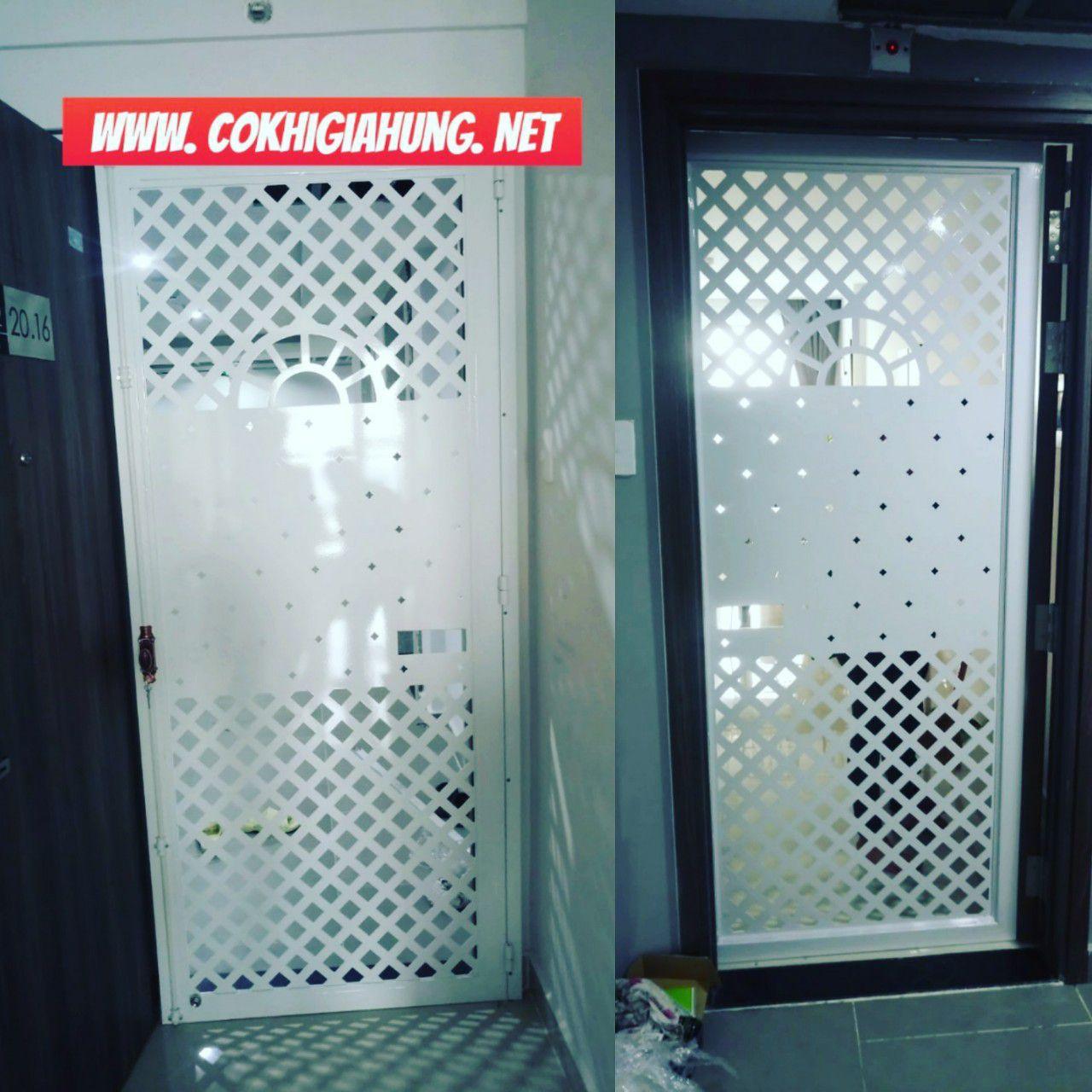 Cửa sắt chung cư CNC GHZ-2839 cắt bằng tia laser