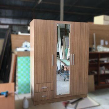 Tủ quần áo MDF 3 cánh có gương GHZ-3156 giá xưởng