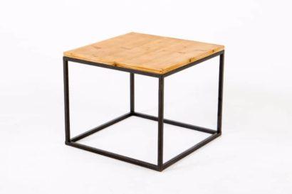 Bàn sofa khung chân sắt mặt gỗ GHZ-3432