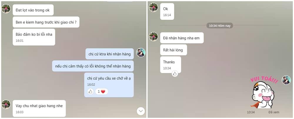 Chị Loan Tân Phú chia sẻ cảm nhận