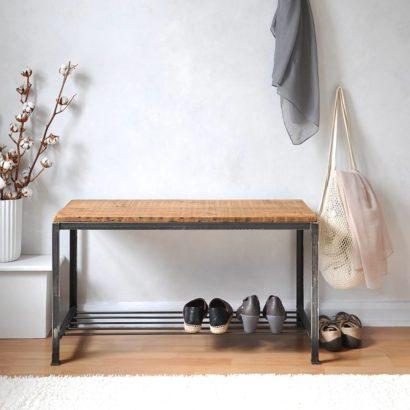 Kệ để giày dép khung chân sắt mặt gỗ GHZ-3280 đẹp tuyệt vời