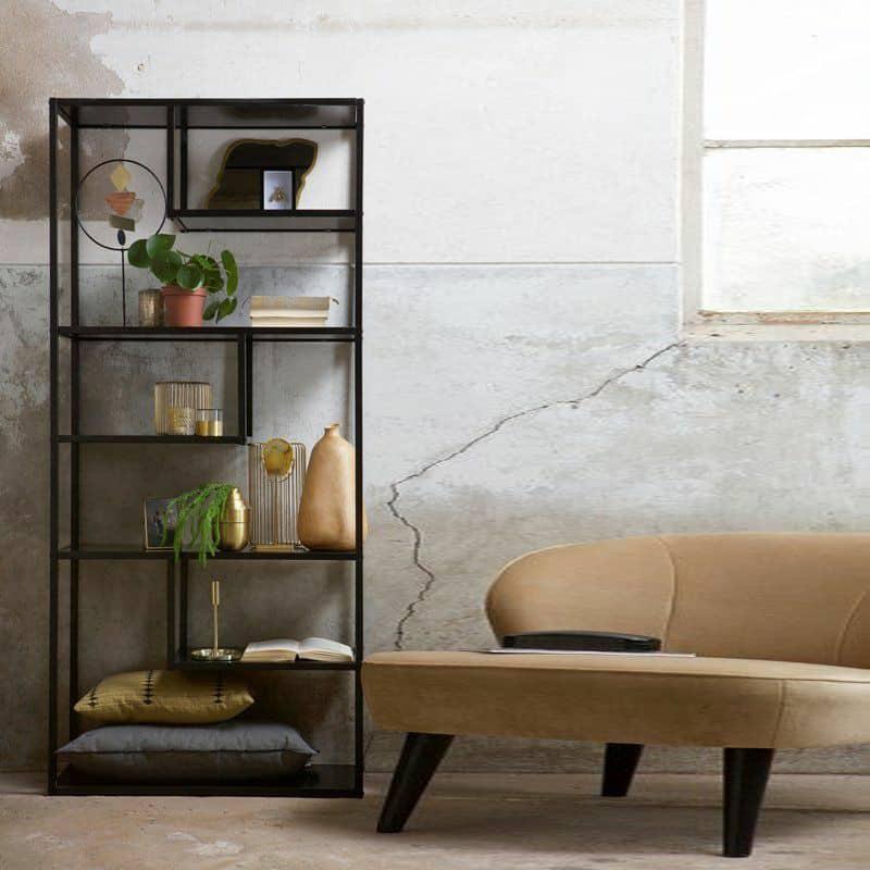 Kệ trang trí khung chân sắt mặt gỗ GHZ-3448 đẹp ơi là đẹp