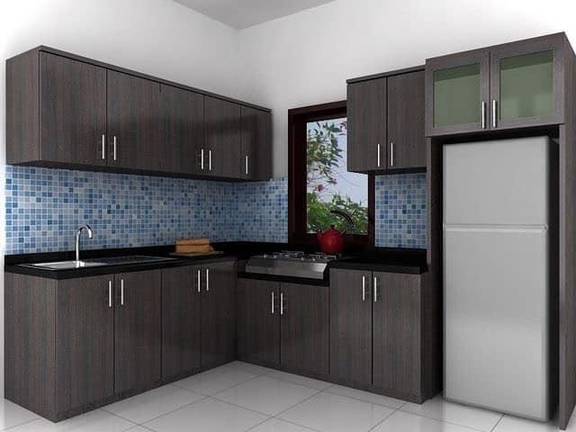 Mẫu tủ bếp gỗ công nghiệp MDF chống ẩm GHZ-3403