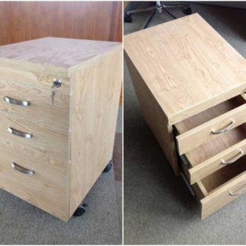 Tủ hồ sơ cá nhân gỗ công nghiệp có 3 ngăn kéo GHZ-3251