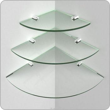 Bathroom decorative corner wall mounted tempered glass